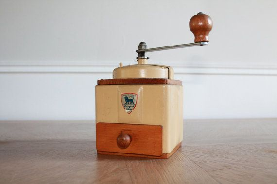 French Peugeot Coffee Grinder Vintage 1950's by LaNormandyBoutique