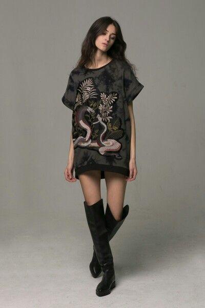 Munthe tunic embroidery snakes. Туника/толстовка с вышивкой Змеи