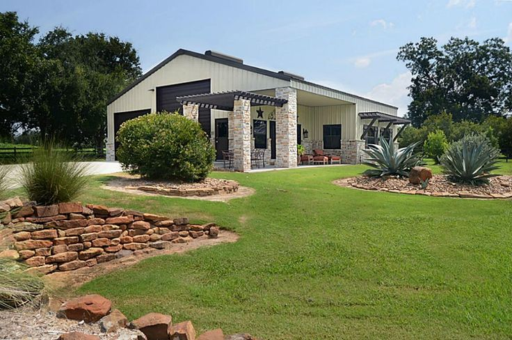 91 best images about ideas for shop on pinterest for Metal barn homes texas