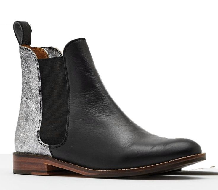 Handmade Two Tone Black Silver Chelsea Leather Boots Ankle Men's Chelsea Boots #Handmade #Chelsea
