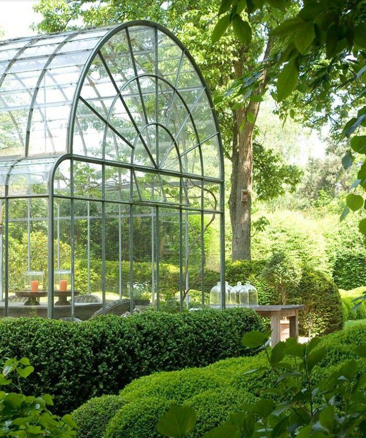 Pleasant large greenhouse