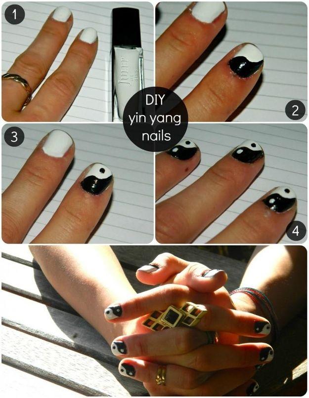 Yin Yang Nails | 19 '90s-Inspired DIYs