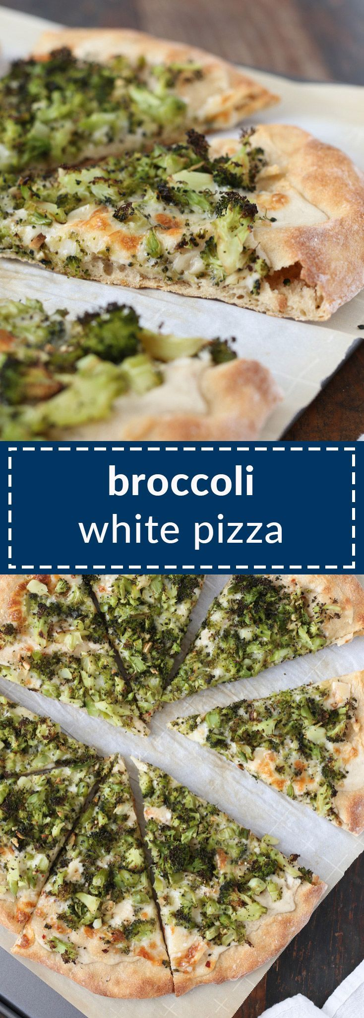 broccoli white pizza has roasted broccoli and a creamy garlic sauce that�s actually vegan – there�s an option to keep the whole pizza vegan/dairy free, if you want.