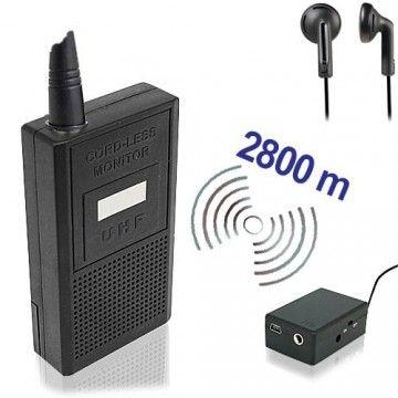Abhörgeräte Komplettset bestehend auf Sender & Empfänger für hohe Reichweiten.