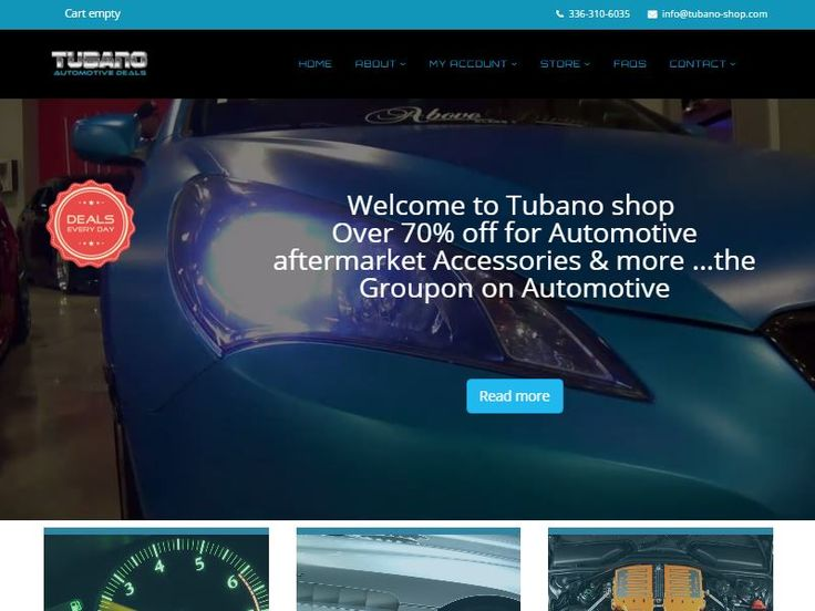 Tubano-shop website