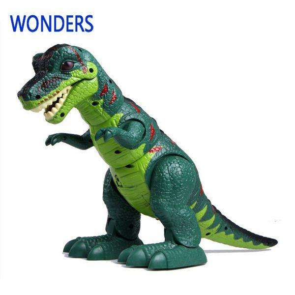 Giocattolo modello tirannosauri rex elettrico animale battery operated flash occhio Assemblare per i bambini del bambino dinosauro con l'imballaggio al dettaglio