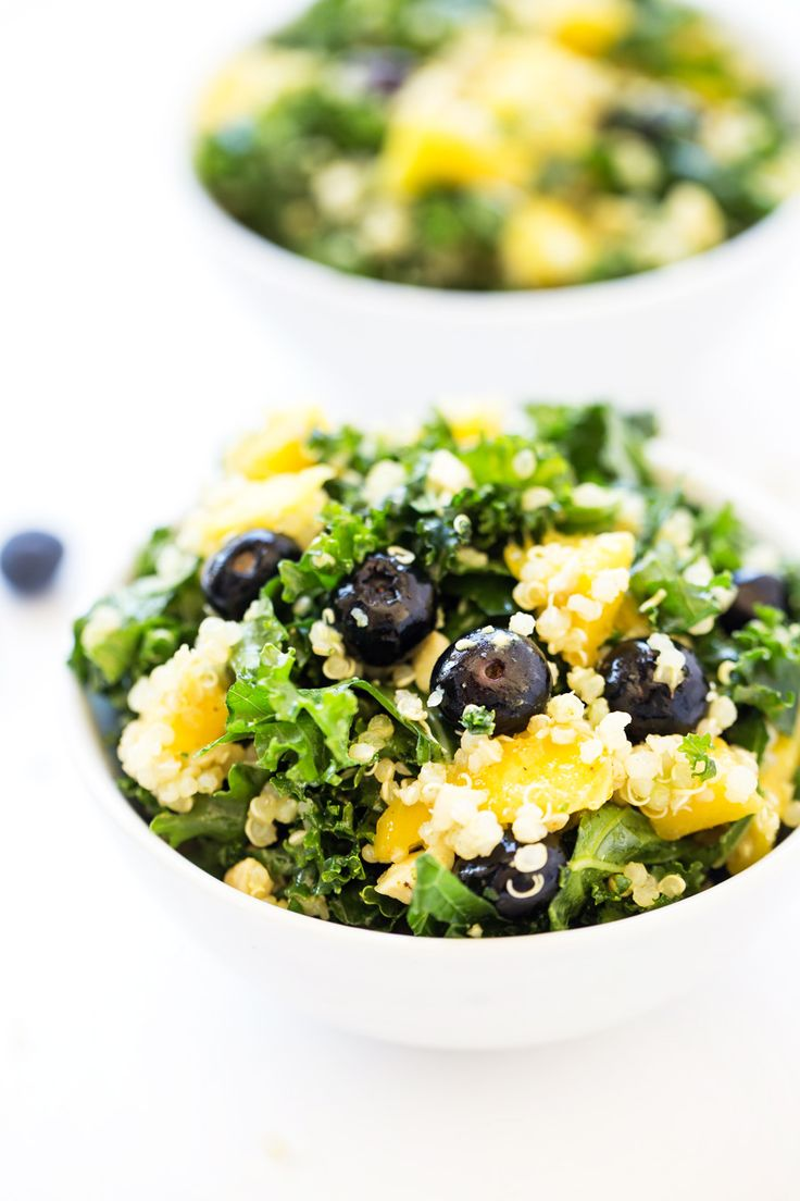 Healthy and nutrient-packed, this Tropical Kale & Quinoa Power Salad is a perfect lunch or side. Comes together in 10 minutes and makes great leftovers!