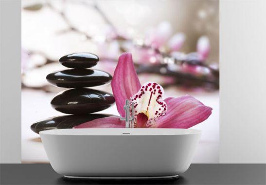 Fototapete Orchidee - Wellness-Tapete von K&L Wall Art | wall-art.de