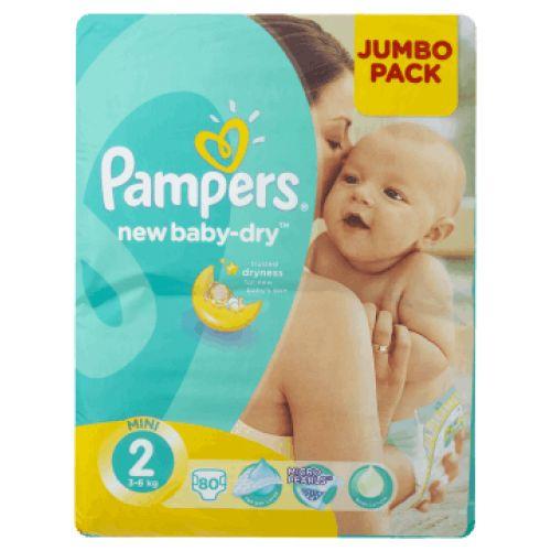Pampers 2 New Baby-Dry, 80 ks  Nakupte dětské pleny nelevněji! Doprava zdarma při objednání za 1000 Kč!   https://babyplenky.cz/
