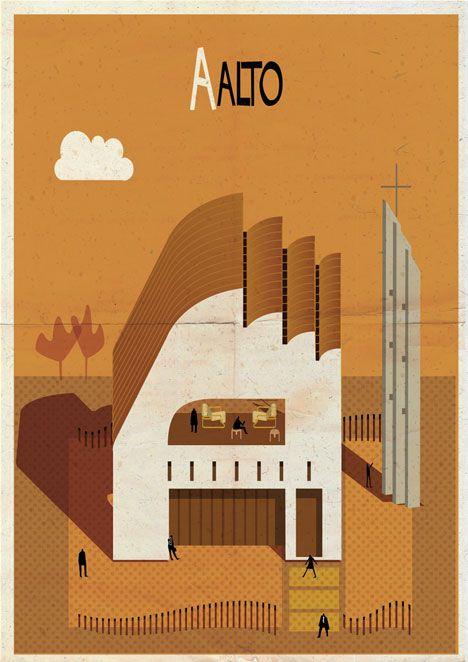 Archibet alphabet of architects by Federico Babina | Aalto