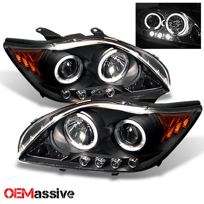 2005 2007 Scion TC Black Bezel Halo Projector LED Headlights Left Right 2006 | eBay