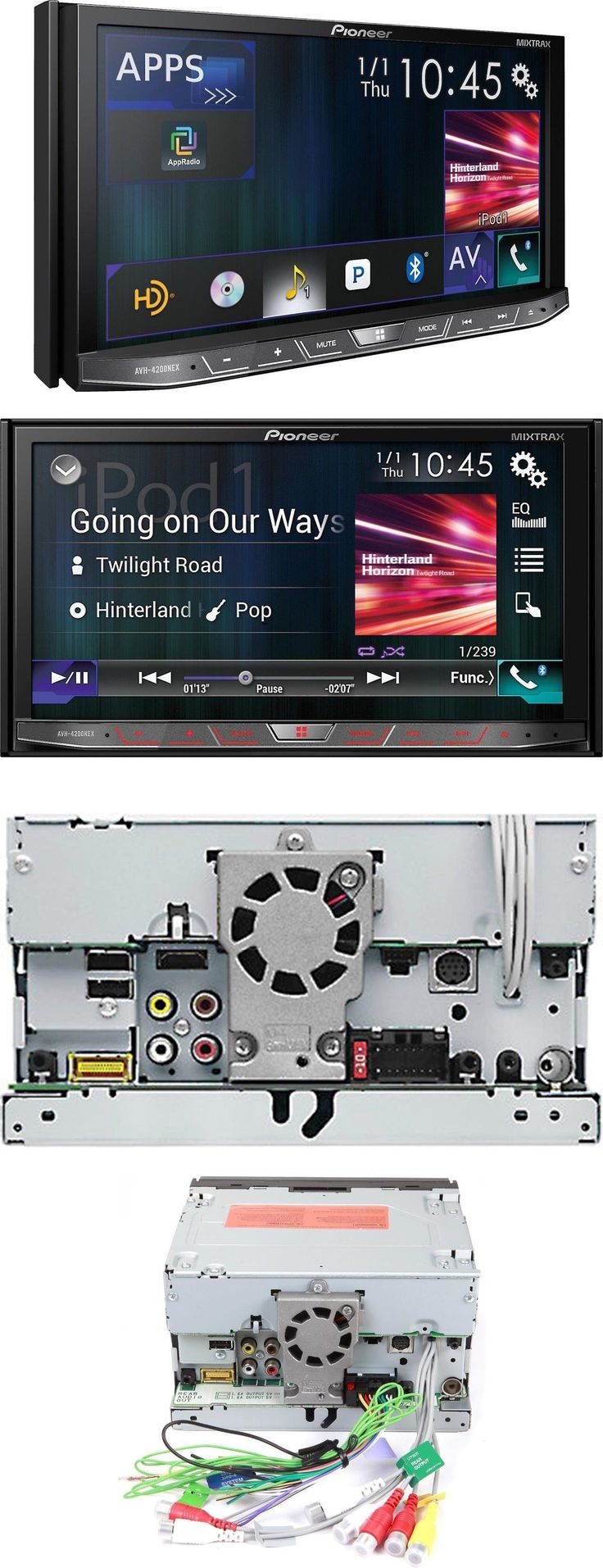 Video in dash units w o gps pioneer avh 4200nex 2 din dvd cd