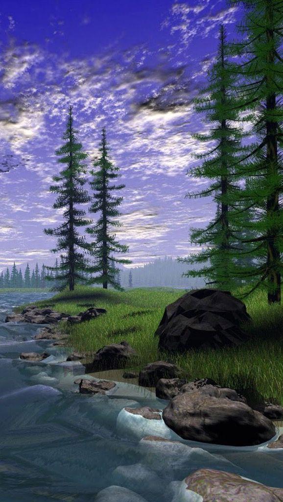 Картинки анимация природа 240-320