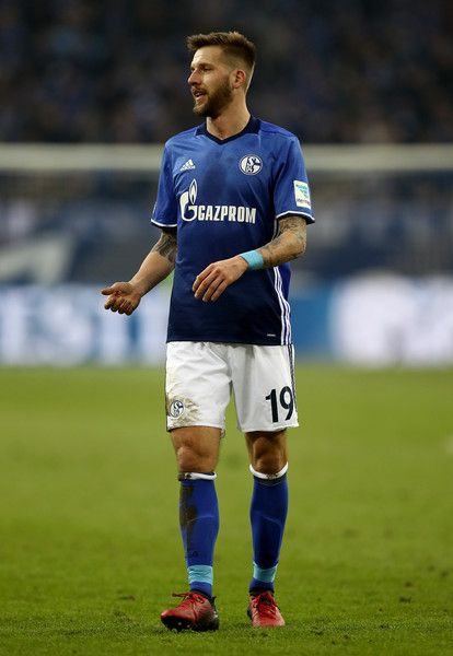 Guido Burgstaller of Schalke reacts during the Bundesliga match between FC Schalke 04 and FC Ingolstadt 04 at Veltins-Arena on January 21, 2017 in Gelsenkirchen, Germany.