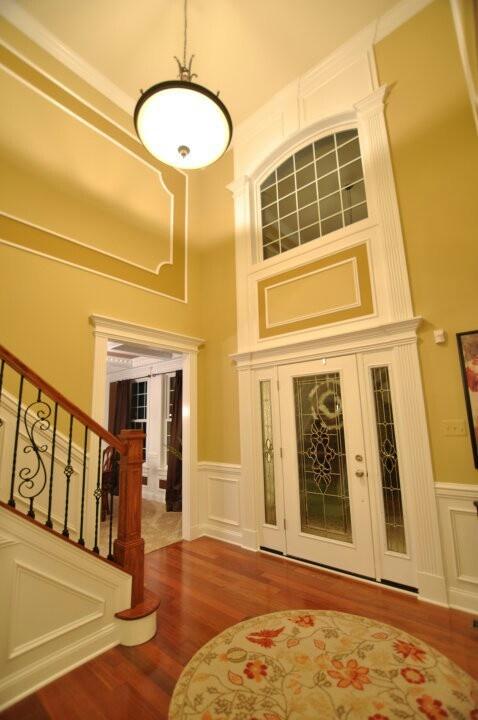 Wood trim around doors houses ideas circles rugs trim situat house