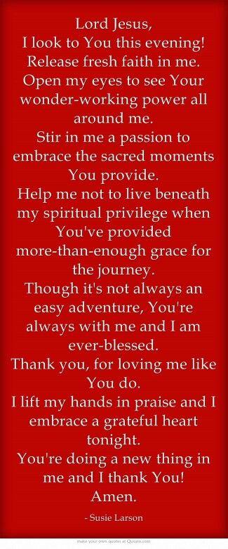 Good night prayer. <3