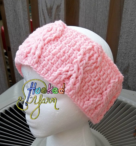Breast Cancer Awareness Headwrap ~ free pattern