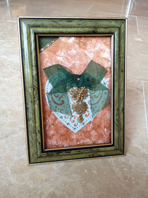 Owl Frame Wall hanging wall art decor upcycled by IantheFrames