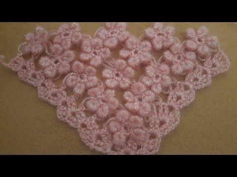 Sarmalı Çiçekli Şal Yapımı - YouTube
