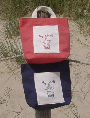 A cute idea for shell collecting on the #beaches of #Cornwall.  Available from The Seaside Company...or your children could just use a bucket!