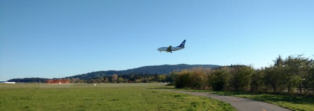 The Flightpath ... leads around Victoria airport.