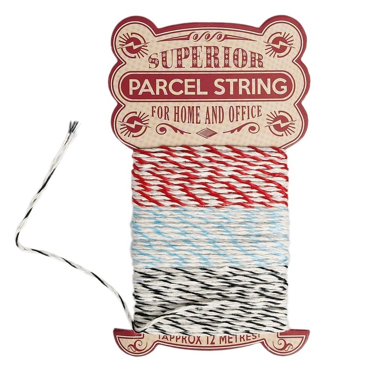 Multicoloured Stripey Parcel String