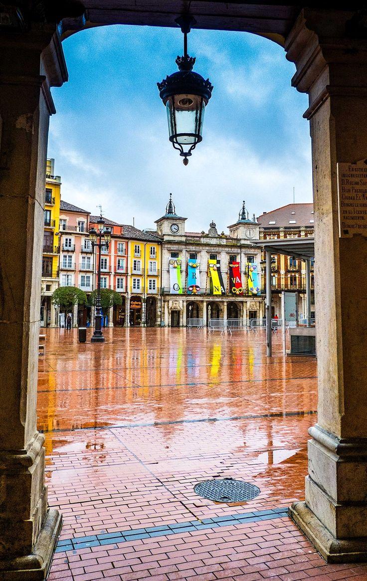 Plaza Mayor . Burgos Spain
