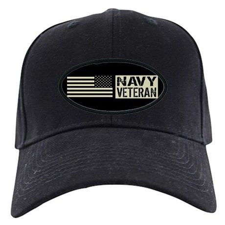 d71d9ce345c U.S. Navy  Veteran (Black Flag) Baseball Hat on CafePress.com