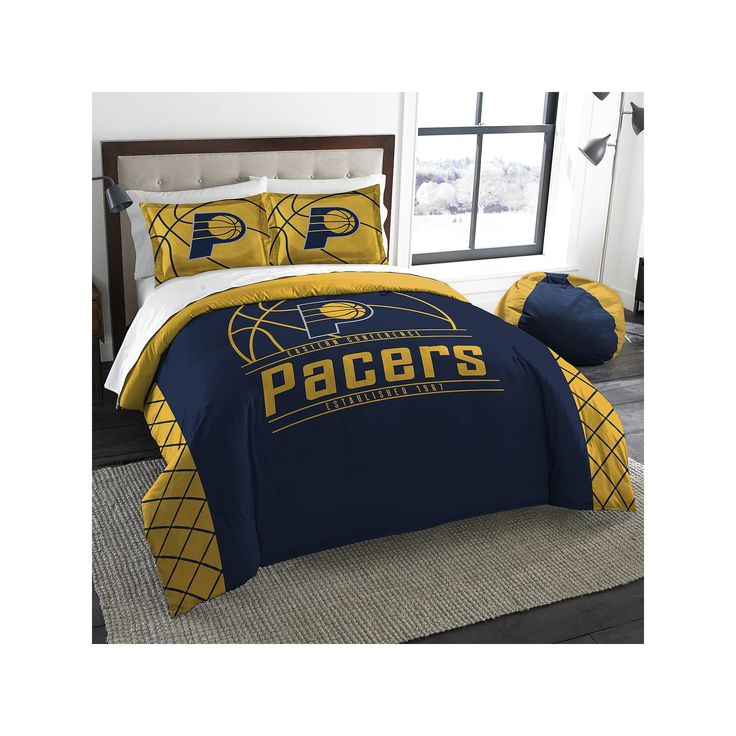 Indiana Pacers Reverse Slam Full/Queen Comforter Set by Northwest, Multicolor