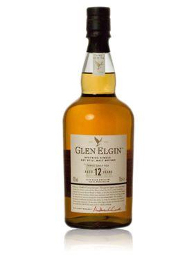 GLEN ELGIN 12 YEAR OLD    Fruitigheid van mandarijnen is de 'signatuur' van de handgemaakte Glen Elgin, ontstaan door een lange en nauwkeurige fermentatie. Een gemakkelijk toegankelijke single malt met fruit en zoetigheid uit de Speyside.