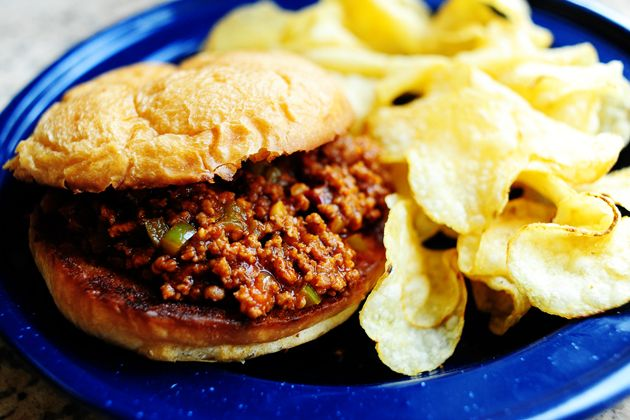 Sloppy Joes! Stick a big spoon in the pot and serve it with a bunch of buns. Done!