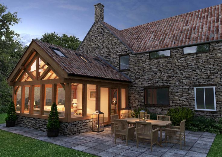 Oak framed garden rooms | Arboreta- love the oak frame but not so keen on the wall or roof!