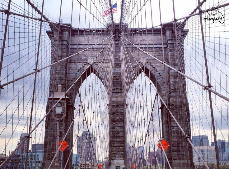 travel photography nyc new york city usa america brooklyn bridge car road trip flag amazing