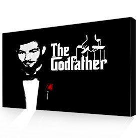 Photo to Canvas Pop Art Godfather Movie Poster Style