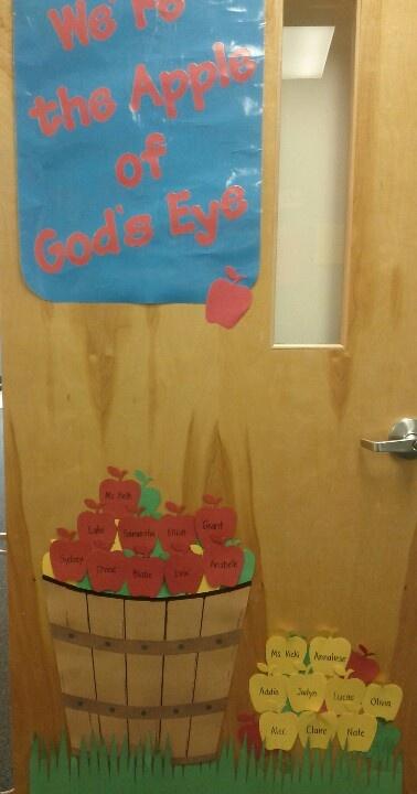 Ms. Beth and Ms. Vicki's september preschool door