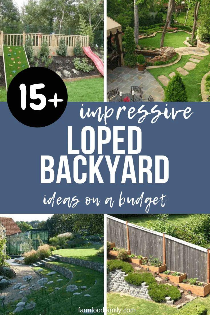 50 Best Sloped Backyard Landscaping Ideas Designs On A Budget For 2021 Sloped Backyard Sloped Garden Sloped Backyard Landscaping Backyard garden ideas on a budget