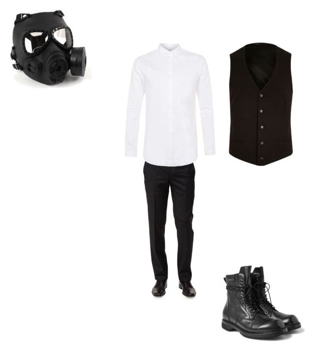 """""""Jimin (FG RP)"""" by skylarsong ❤ liked on Polyvore featuring Ermenegildo Zegna, Topman, River Island, GAS Jeans, Rick Owens, men's fashion and menswear"""