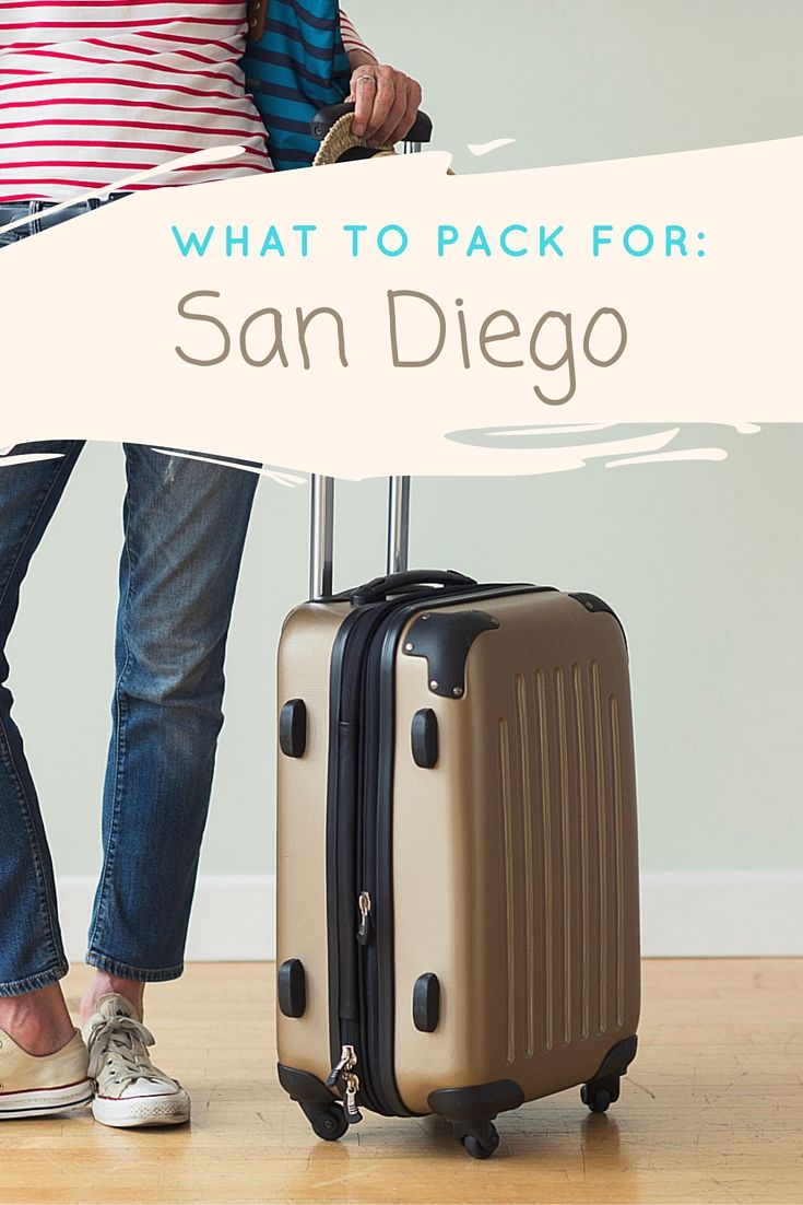 Tips on what to pack for a trip to San Diego. Different advice included for both summer and winter months. (Yes, there is a difference even in sunny San Diego!)