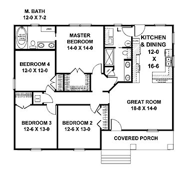 25 best ideas about 4 bedroom house plans on pinterest 19833 | 52e60b2ee9df2dd29275a11ad83299f6