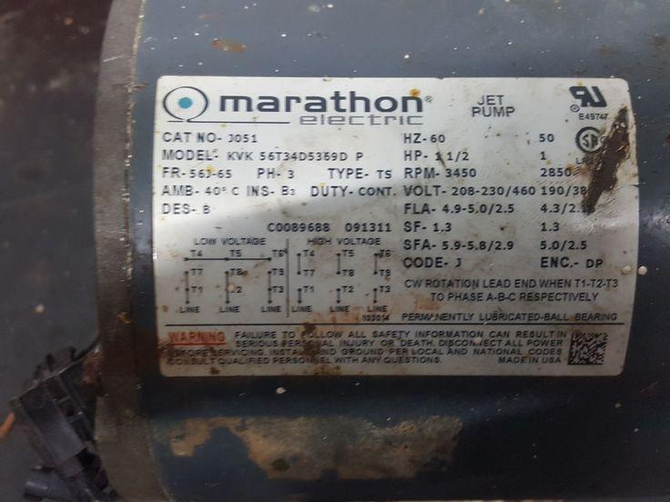Marathon Electric J051 / 056T34D5369 jet pump motor