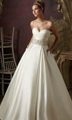 Mori Lee Blu Satin Wedding Dresses