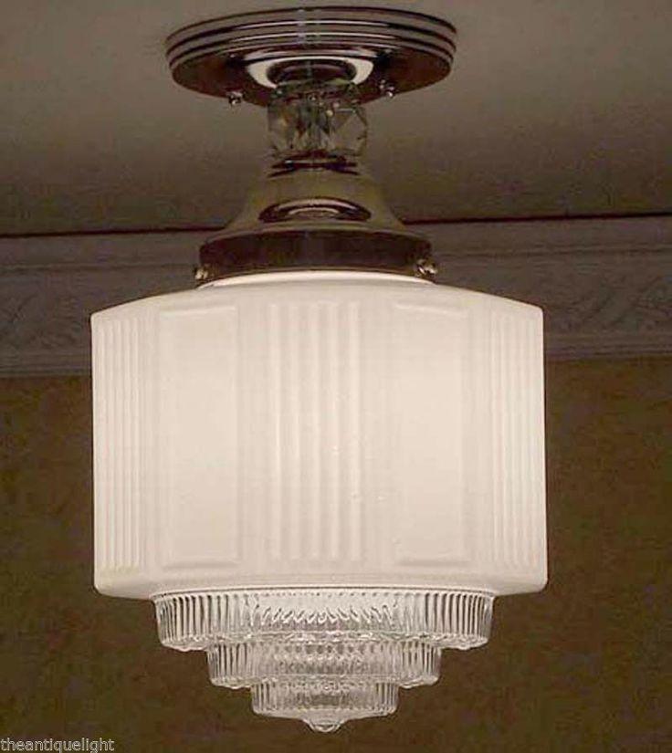Beautiful Vintage Art Deco 30 S 40 S Ceiling Light