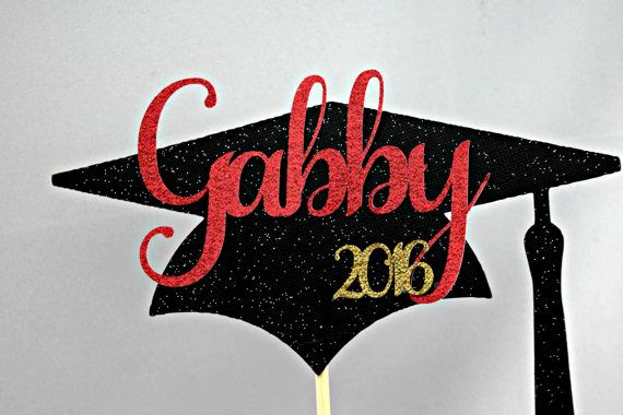 Graduation Cake Topper  / Graduation by EJsExquisiteTreasure
