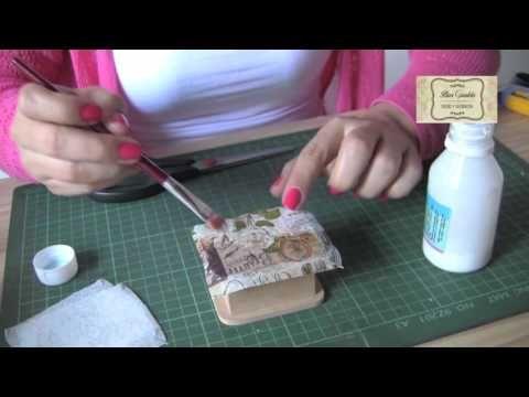 17 best images about videos decopauge y scrap on pinterest - Como decorar madera ...