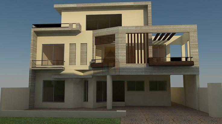 35 best Elevation images on Pinterest | Exterior design, Home ...  Marla House Design In Stan Html on