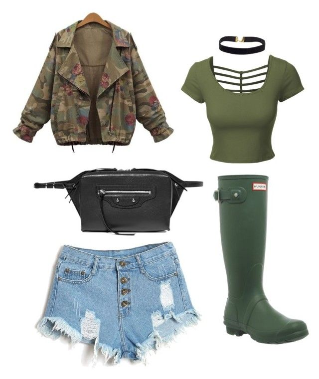 army by lexy24 on Polyvore featuring LE3NO, Hunter and Balenciaga