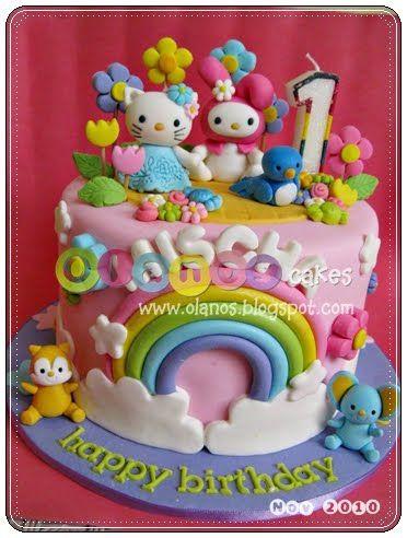 Hello Kitty & My Melody Cake
