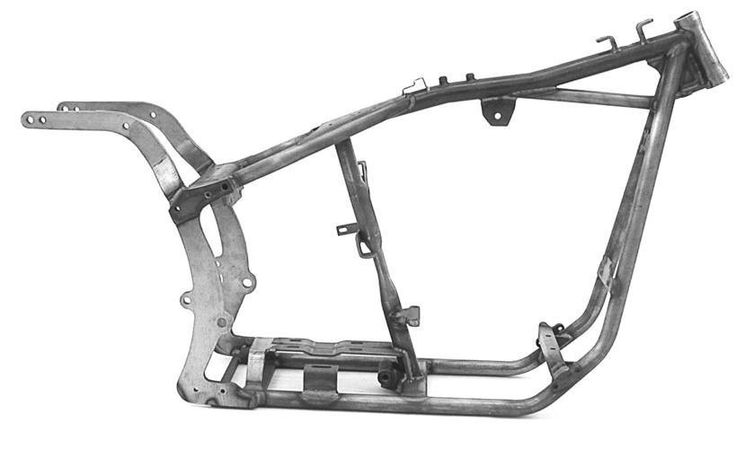"""Stock Width Softail Style Frame 1-1/4"""""""" Tubing"""