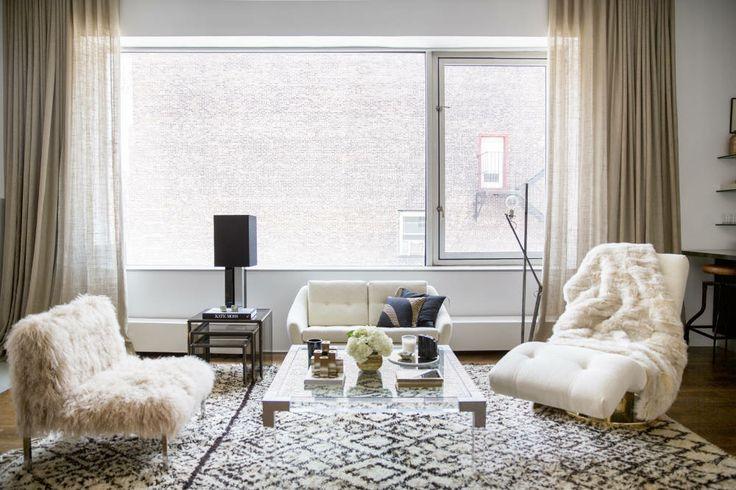 Moroccan rugs on domino.com (Rita Hazan's home)