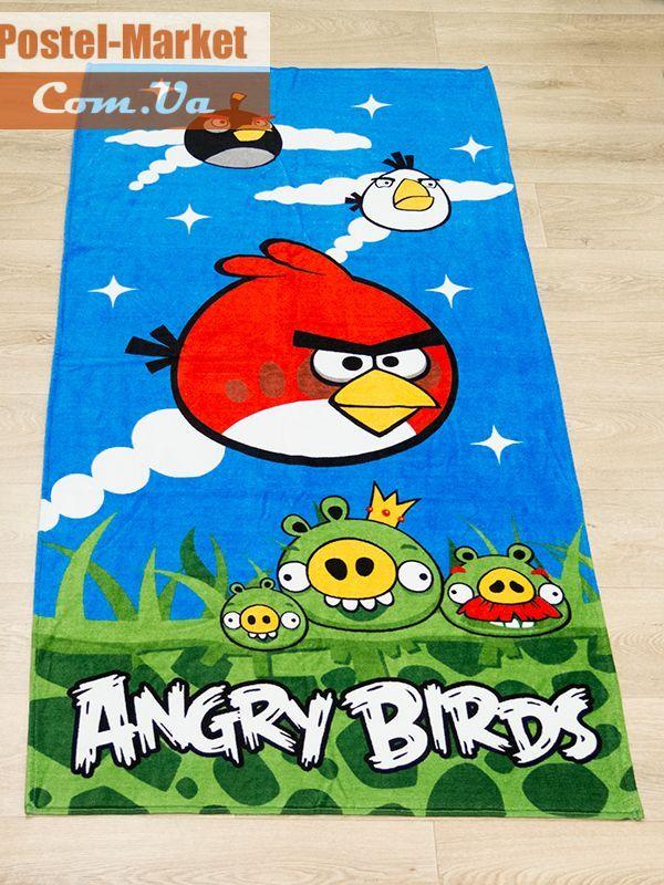 Полотенце пляжное Angry birds. Купить в Украине (Постель Маркет, Киев)